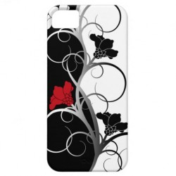 black_white_flowers_iphone_5_case zazzle.com